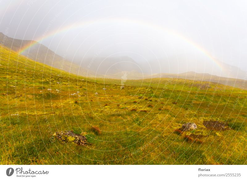 Rainbow on Iceland II / IV Leisure and hobbies Vacation & Travel Tourism Trip Adventure Far-off places Freedom Mountain Hiking Environment Nature Landscape