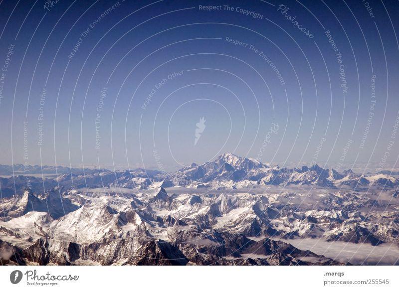 vista Vacation & Travel Winter vacation Mountain Environment Nature Cloudless sky Horizon Alps Peak Snowcapped peak Environmental protection Far-off places