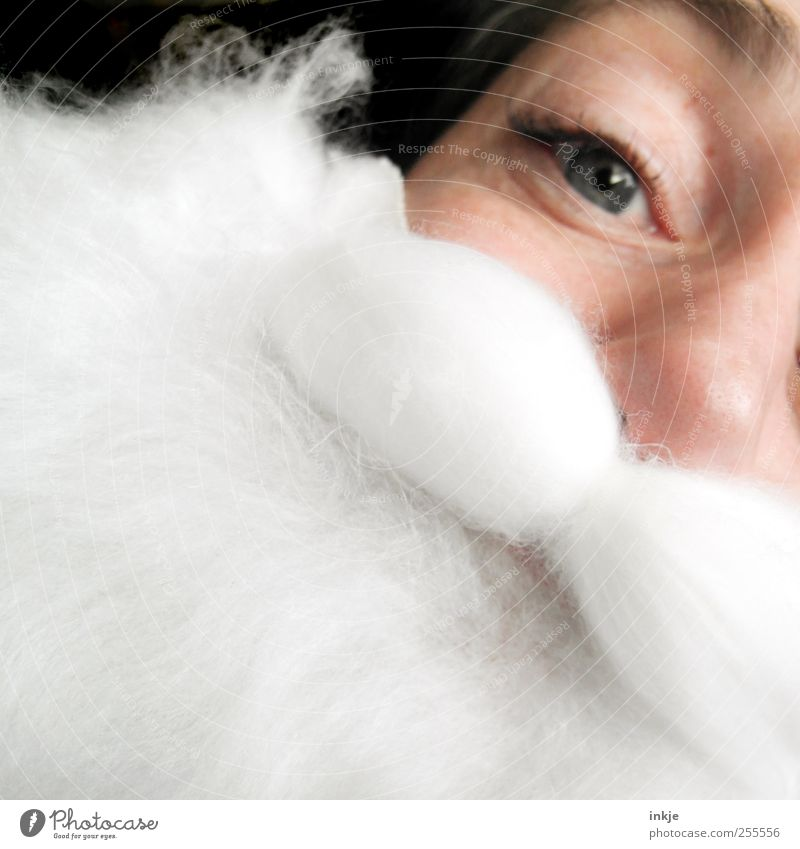 I wish Santa Claus... Lifestyle Leisure and hobbies Christmas & Advent Parenting Adults Face 1 Human being Costume White-haired Facial hair Beard Looking