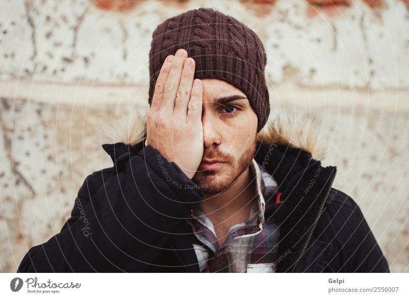 Attractive guy Lifestyle Style House (Residential Structure) Human being Boy (child) Man Adults Warmth Fashion Piercing Hat Beard Old Cool (slang) Eroticism