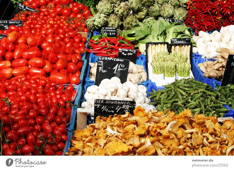 Colour Healthy Fruit Vegetable Mushroom Markets Nutrition Tomato Asparagus Onion