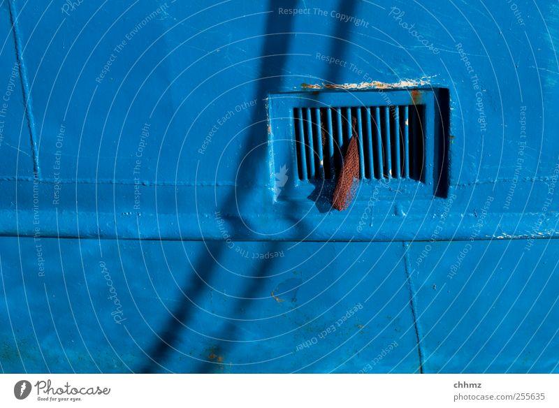 blue Seaman Watercraft Fishing boat Navigation Harbour Metal Blue Iron Ship's side Window Grating Cloth Net Monochrome Welding seam Tin Shipyard Varnish