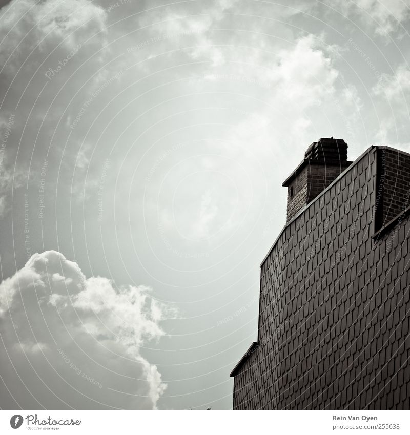 Squared Clouds Calm House (Residential Structure) Wall (building) Architecture Building Wall (barrier) Sadness Facade Roof Clean Symbols and metaphors Village