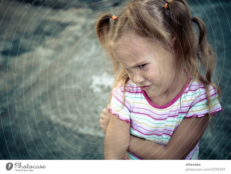 Sad little girl Face Child Human being Woman Adults Family & Relations Infancy Think Sadness Emotions Concern Grief Fatigue Pain Loneliness Stress Distress