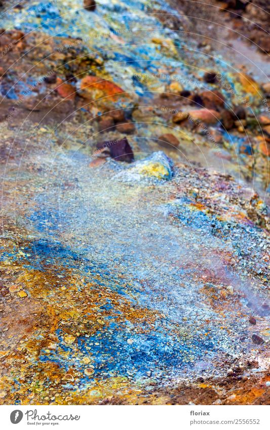 Colours on Iceland Vacation & Travel Trip Adventure Environment Nature Landscape Elements Earth Air Water Hveragerdi Stone Esthetic Exceptional Exotic Hot Blue