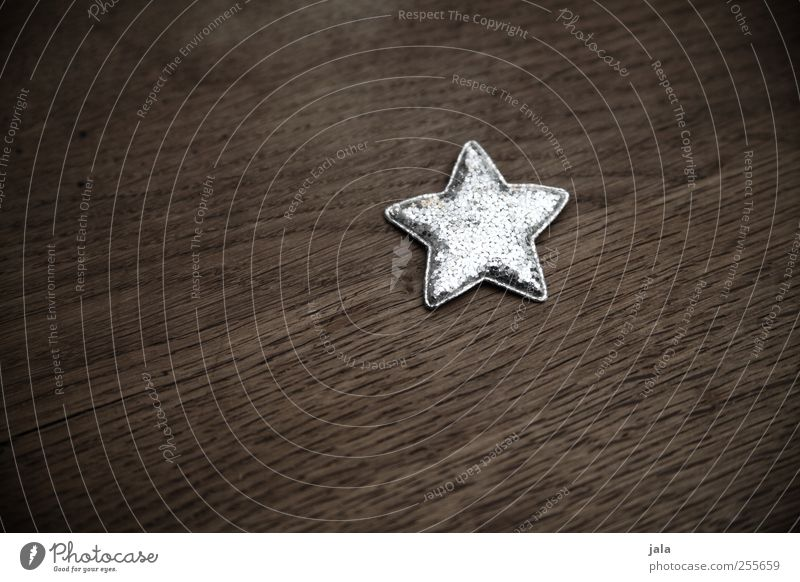 Christmas & Advent Beautiful Small Brown Glittering Esthetic Star (Symbol) Decoration Kitsch Silver Christmas decoration Christmas star Odds and ends