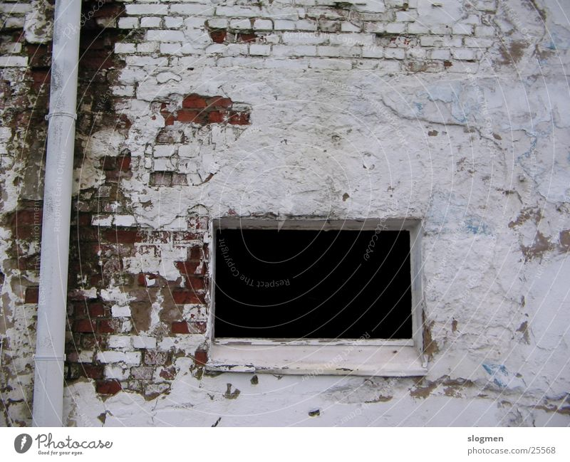 black & white Window Ruin Wall (barrier) Derelict White Black Architecture Industrial Photography
