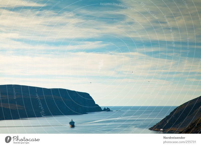 Blue Vacation & Travel Ocean Calm Far-off places Relaxation Landscape Freedom Beginning Hope Elements Observe Fragrance Meditation Harmonious Wanderlust