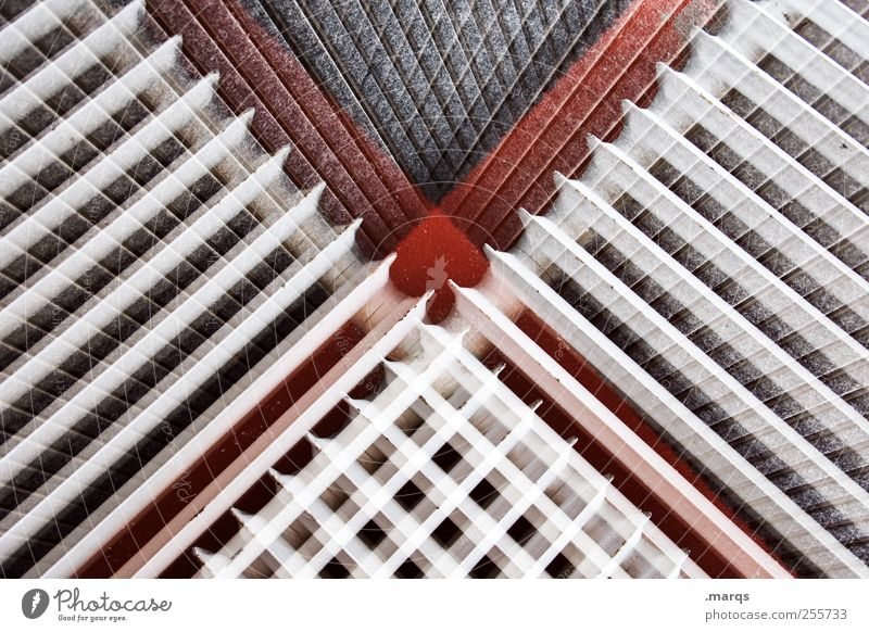 Shy x Lifestyle Style Design Heater Heating Line Exceptional Cool (slang) Uniqueness Crazy Red Black White Surrealism Symmetry Double exposure Colour photo