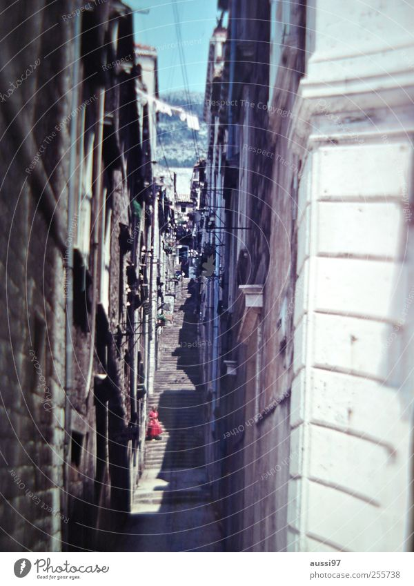 Streets of your town Blur Narrow Alley Italy Old town Vacation & Travel Lady Inspection Dress To go for a walk