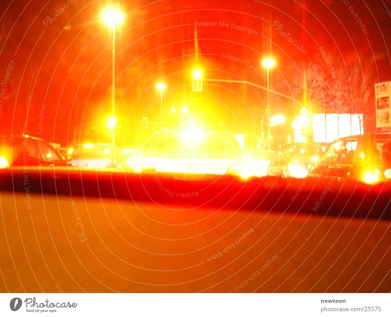 deep red Traffic light Red Long exposure Road traffic Style
