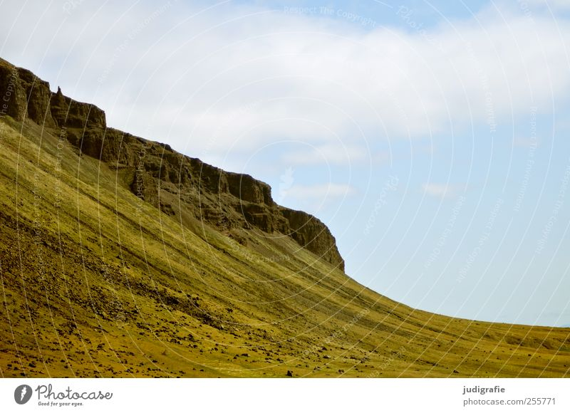 Sky Nature Environment Landscape Mountain Rock Natural Wild Hill Iceland