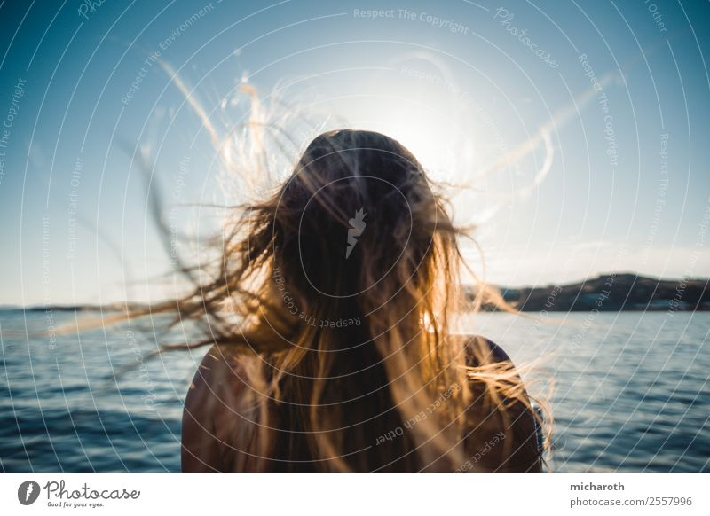 wind in your hair Lifestyle Healthy Harmonious Well-being Vacation & Travel Tourism Trip Adventure Freedom Cruise Summer vacation Young woman