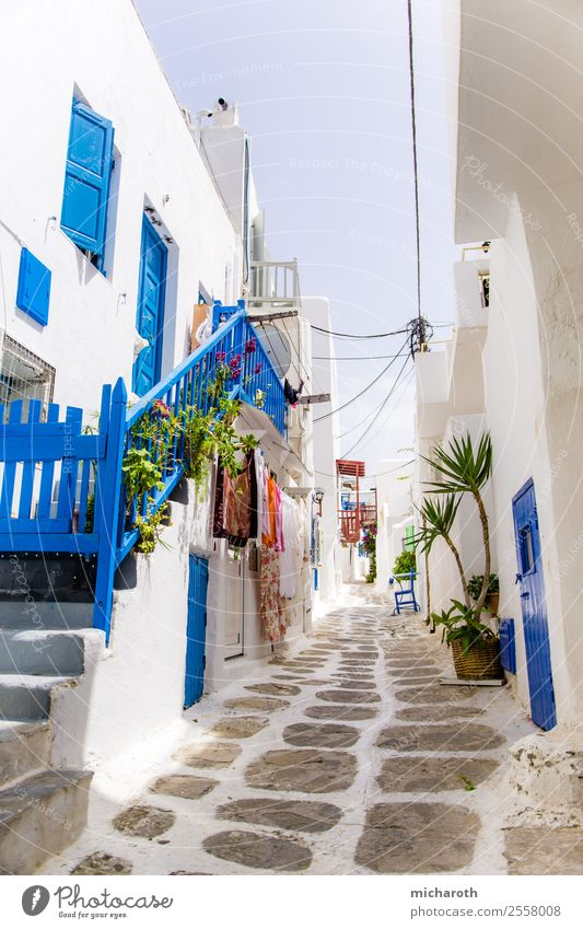 Mykonos Street Vacation & Travel Tourism Trip Sightseeing Summer Summer vacation Sun Art Architecture Village Fishing village House (Residential Structure)