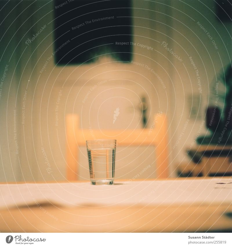 boat behind. Fasting Beverage Cold drink Glass Tumbler Chair Table Dinner table Door Analog Multicoloured Close-up Detail Deserted Shallow depth of field 1