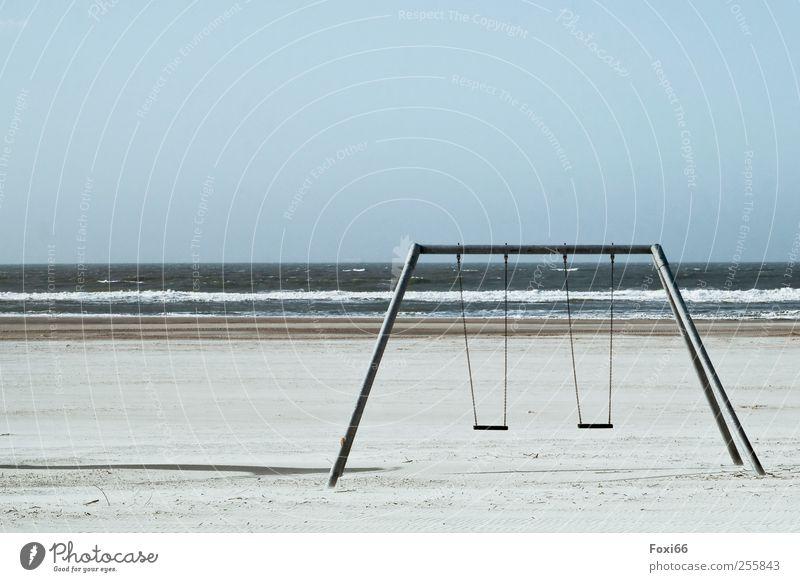 Sky Blue Water White Beach Calm Environment Playing Gray Movement Sand Coast Metal Horizon Wind Leisure and hobbies