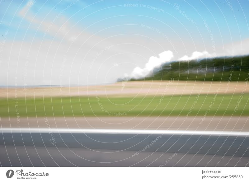Vacation & Travel Landscape Clouds Movement Lanes & trails Background picture Time Line Horizon Field Signs and labeling Speed Fantastic Soft Beautiful weather