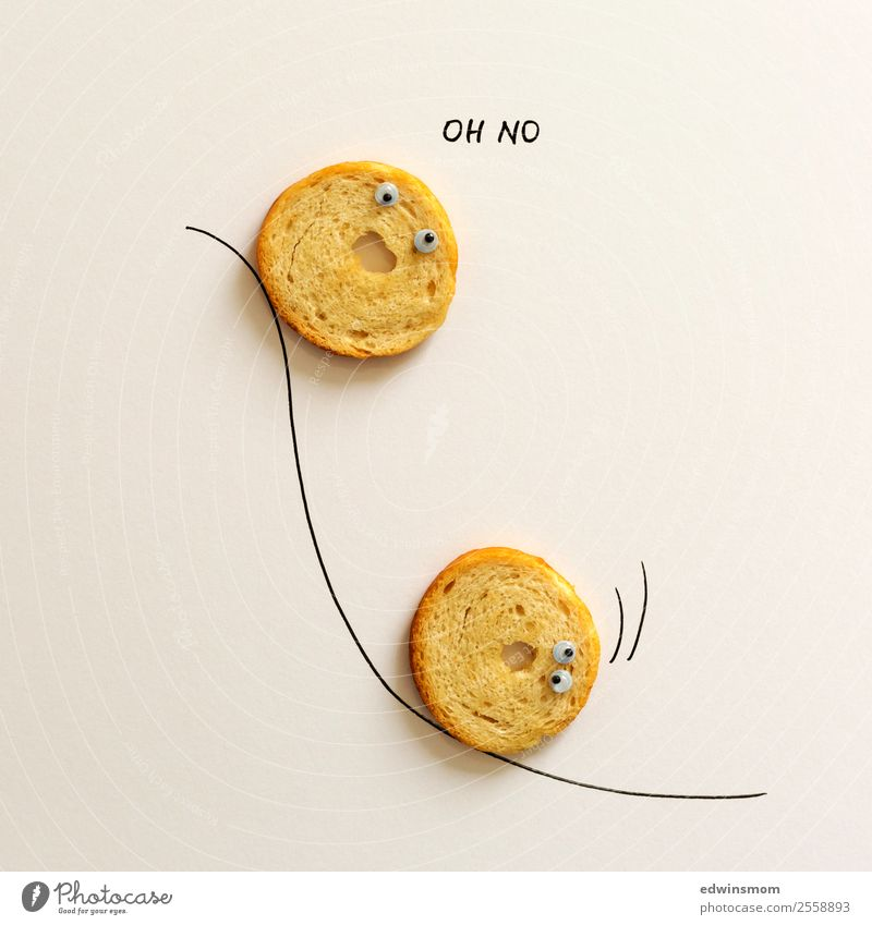 oh no Snack Leisure and hobbies Playing Draw Paper Movement Fitness Scream Romp Thin Together Small Funny Round Dry Fear Idea Inspiration Creativity
