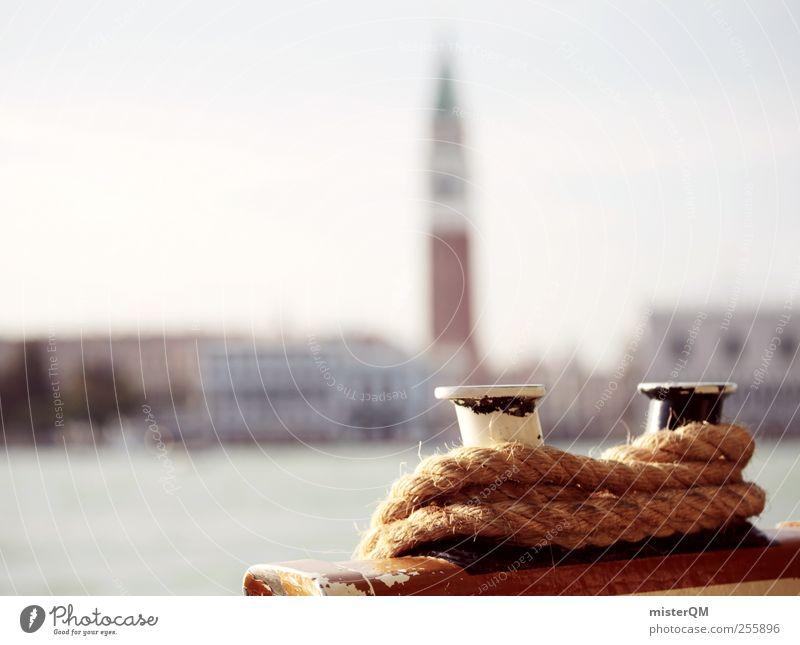 Harbour town. Art Adventure Esthetic Venice City trip Port City Basilica San Marco Campanile San Marco Coast Navigation Cruise Rope Tourism Vacation & Travel