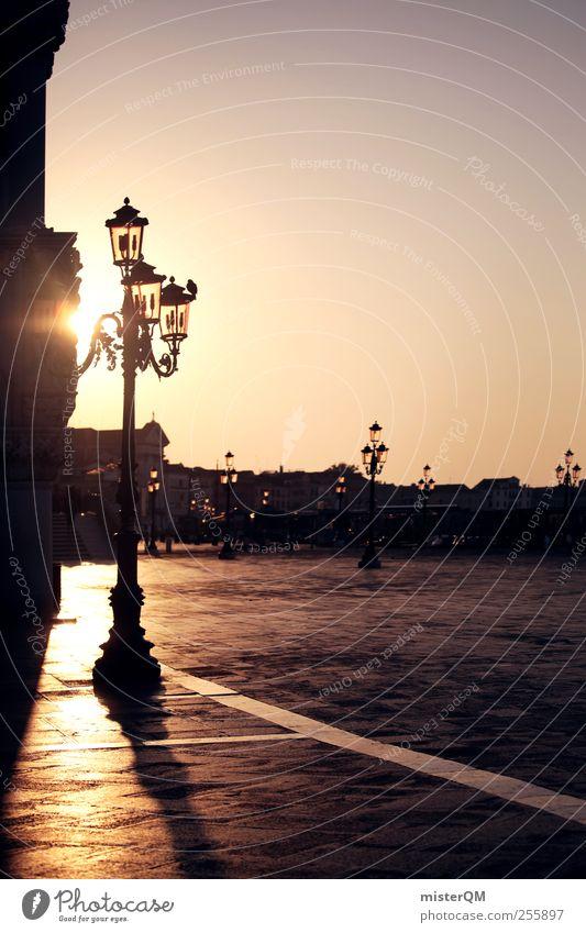 Morning light. Art Esthetic Romance Sun Calm Idyll Peaceful Lantern Veneto Basilica San Marco St. Marks Square Port City Tourism Wanderlust Vacation & Travel