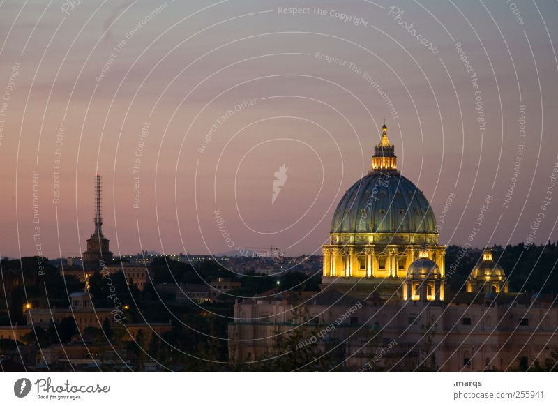 Sky Colour Dark Architecture Religion and faith Illuminate Italy Manmade structures Downtown Dome Capital city Sightseeing Rome Twilight Vacation & Travel