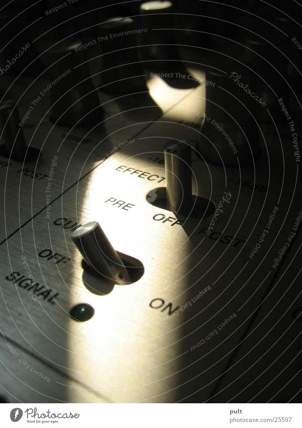 mixed shadows Switch Vestax Disc jockey Bland Entertainment Mixing desk Music Shadow Macro (Extreme close-up) equalizer