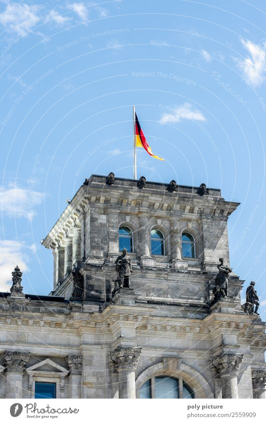 Sky Vacation & Travel Town Clouds Berlin Tourism Germany Trip Weather Beautiful weather Future Uniqueness German Flag Tourist Attraction Protection Landmark