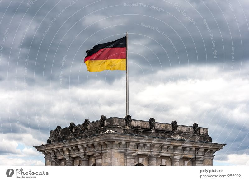 Clouds Berlin Germany Contentment Europe Arrangement Uniqueness German Flag Protection Capital city Luxury Politics and state Identity