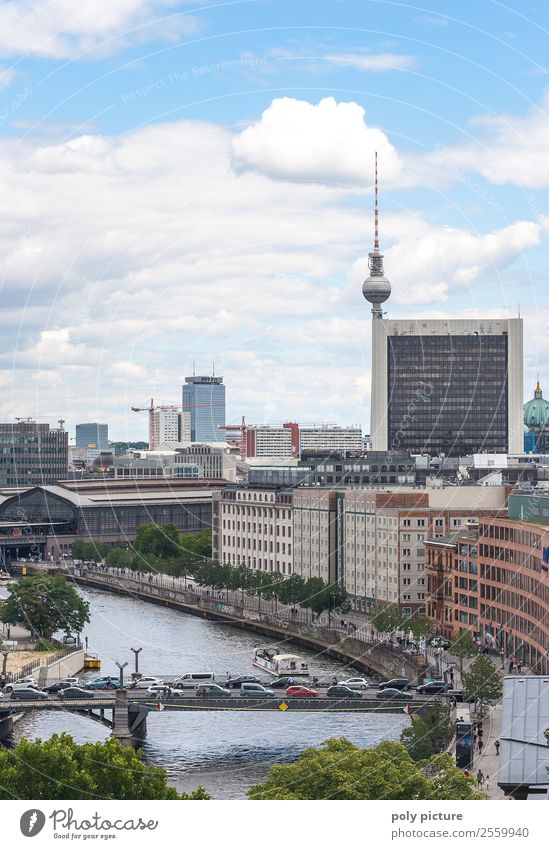 Vacation & Travel Summer Town Sun Architecture Autumn Berlin Building Tourism Germany High-rise Beautiful weather Bridge Tourist Attraction Target Landmark