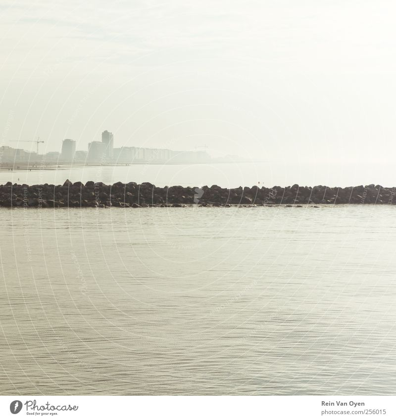 Minimalistic coast Nature Water Calm Environment Landscape Coast Moody Flat (apartment) Empty Clean North Sea Serene
