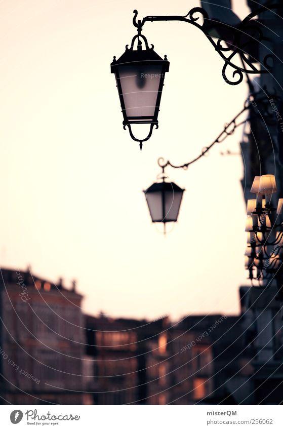 Big city romance. Art Esthetic Lantern Street lighting Venice Veneto Sunset Alley Port City Romance Italian Light Facade House (Residential Structure)