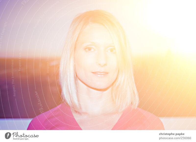 Spectrum Feminine Young woman Youth (Young adults) 1 Human being 18 - 30 years Adults Sun Sunlight Summer Blonde Fantastic Bright Multicoloured Abstract