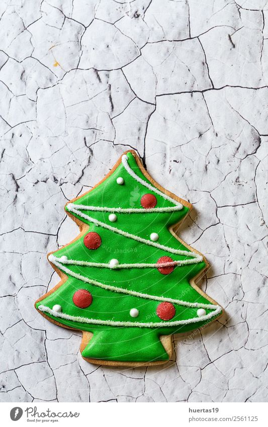 Christmas cookies on wooden table. Food Dessert Candy Vacation & Travel Decoration Feasts & Celebrations Christmas & Advent Family & Relations Tree Delicious