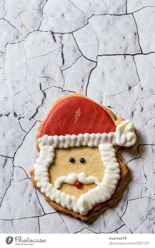 Christmas cookies on wooden table Food Cake Dessert Candy Vacation & Travel Decoration Feasts & Celebrations Christmas & Advent New Year's Eve