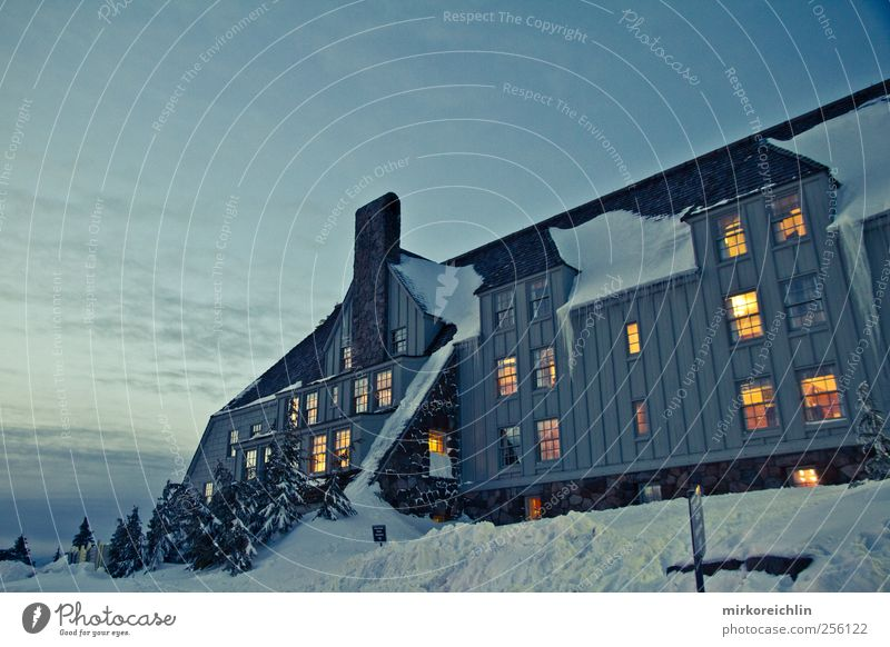 Timberline Lodge mt. hood Oregon USA House (Residential Structure) Hut Manmade structures Building Architecture Window Tourist Attraction Stone Wood Beautiful