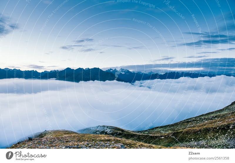 Nature Vacation & Travel Summer Blue Clouds Loneliness Calm Far-off places Mountain Environment Natural Freedom Moody Trip Horizon Esthetic