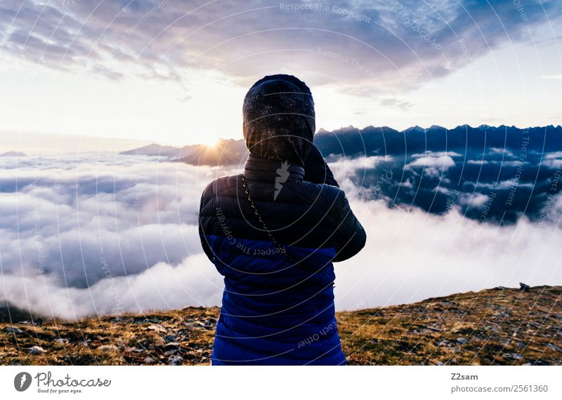 Nature Vacation & Travel Youth (Young adults) Young woman Summer Landscape Sun Mountain Lifestyle Feasts & Celebrations Freedom Leisure and hobbies Hiking