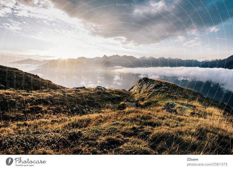 Venet | Summit | Sunrise | Alps Mountain Hiking Nature Landscape Sky Clouds Sunset Summer Beautiful weather Peak Fresh Gigantic Infinity Tall Natural Warmth