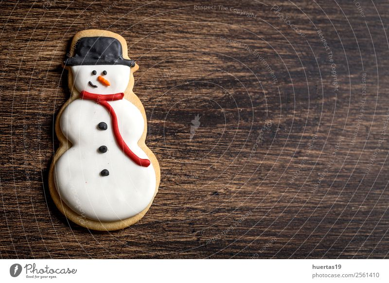 Christmas cookies on wooden table. Food Dessert Candy Vacation & Travel Decoration Christmas & Advent New Year's Eve Family & Relations Tree Delicious Above