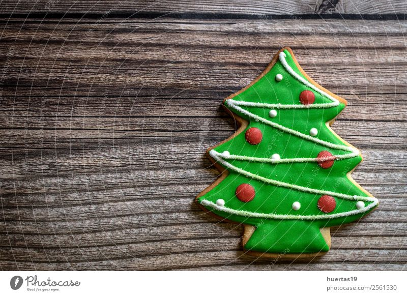 Christmas cookies on wooden table. Food Cake Dessert Candy Vacation & Travel Decoration Feasts & Celebrations Christmas & Advent New Year's Eve