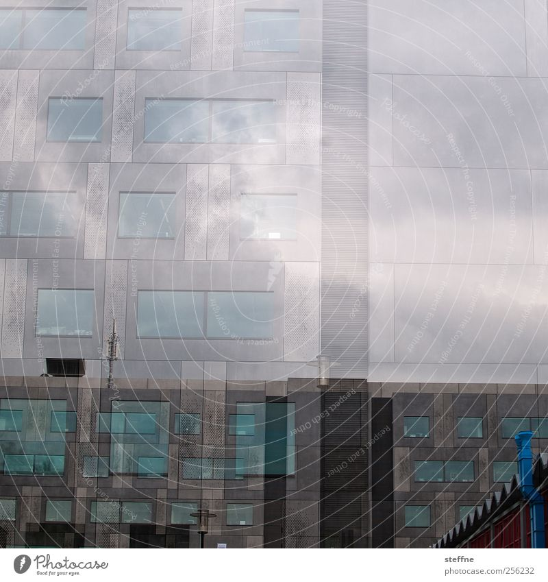 Blue Window Wall (building) Architecture Gray Building Wall (barrier) Facade Esthetic Double exposure Chemnitz