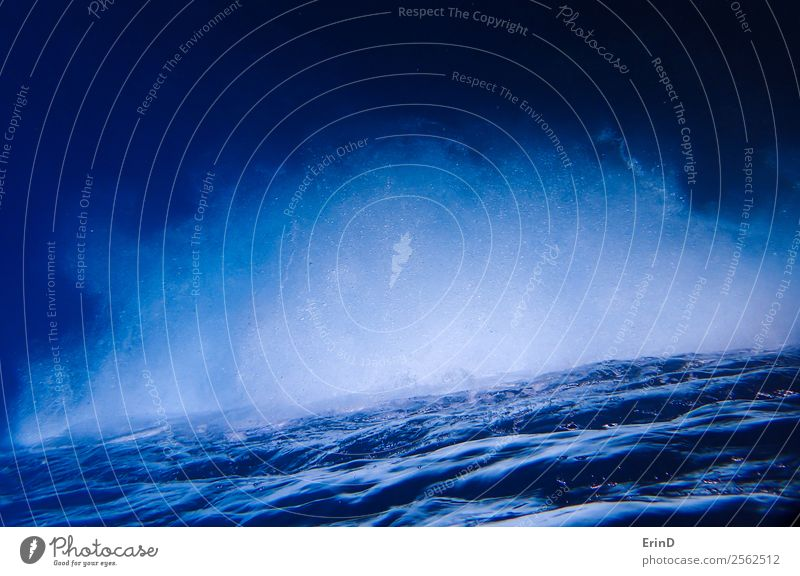 Surface of Sea and Mass of White Bubbles Upside Down Nature Vacation & Travel Blue Ocean Calm Wet Dive Air bubble Hawaii Pacific Ocean Bubbling Ripple