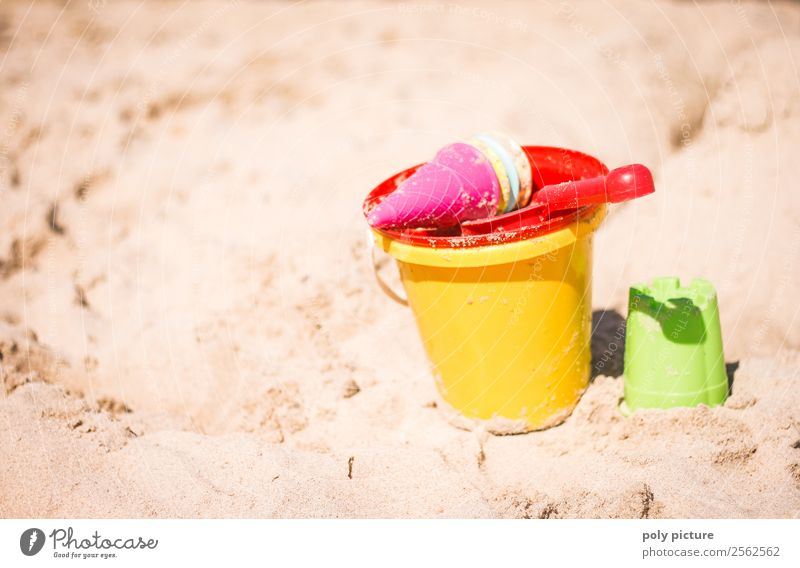 Sand toys on the beach Wellness Leisure and hobbies Playing Vacation & Travel Tourism Trip Far-off places Freedom Summer Summer vacation Sun Sunbathing Beach