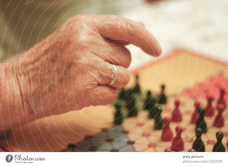 Hand of a grandma Playing Woman Adults Female senior Male senior Man Grandparents Senior citizen Grandmother Life 60 years and older Resolve Success Expectation