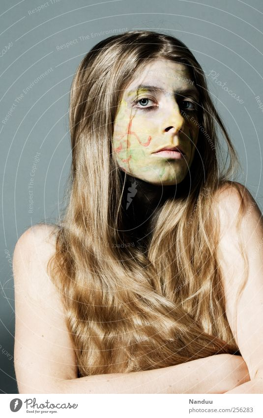 to be fully there. Human being Feminine 1 18 - 30 years Youth (Young adults) Adults Esthetic Painted Multicoloured Hair and hairstyles Bodypainting Strange