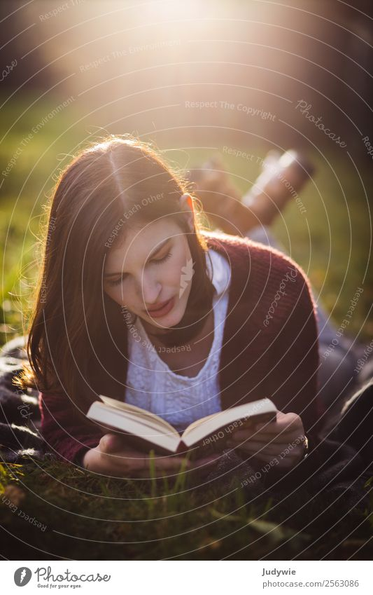 Woman Human being Nature Youth (Young adults) Young woman Beautiful Relaxation Calm 18 - 30 years Adults Autumn Environment Meadow Feminine Garden Contentment