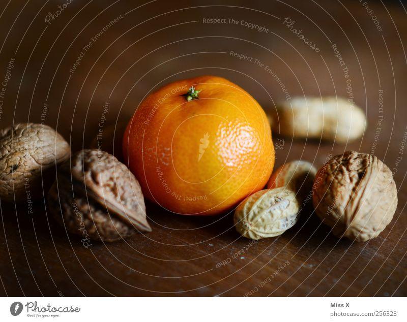 Christmas & Advent Nutrition Wood Food Orange Fruit Sweet Healthy Eating Delicious Juicy Walnut Tangerine Peanut Nutshell