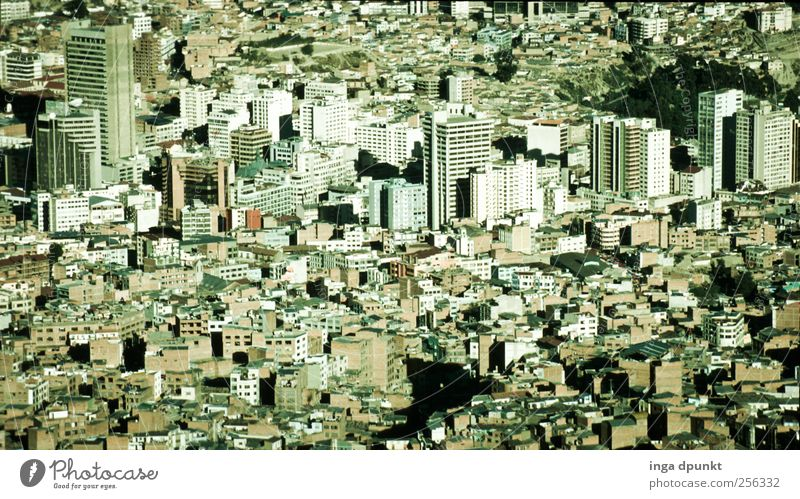 La Paz Bolivia South America Capital city Downtown Overpopulated House (Residential Structure) High-rise Bank building Industrial plant Work and employment