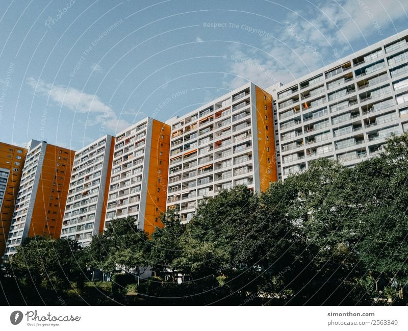 Town House (Residential Structure) Berlin Flat (apartment) High-rise Poverty Skyline Capital city Downtown Moving (to change residence) Outskirts