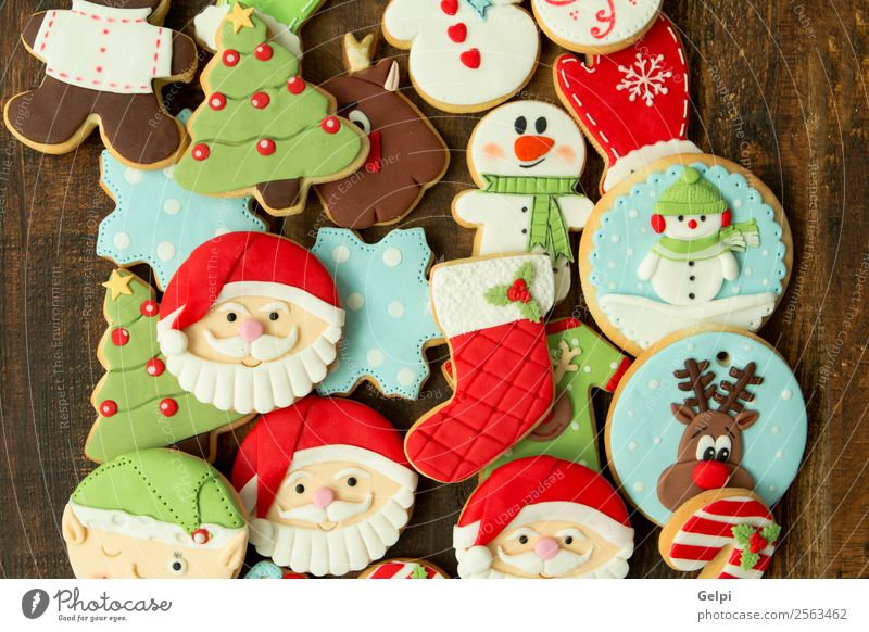 Delicious Christmas Cookies Dessert Winter Decoration Table Feasts & Celebrations Christmas & Advent New Year's Eve Tree Wood Ornament Brown Tradition christmas